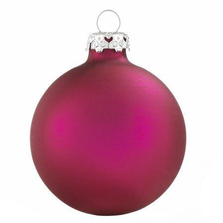 Leuchtend pinke weihnachtskugeln aus glas 4er set 8cm matt for Pinke weihnachtskugeln