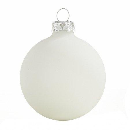 Christbaumkugeln Weiß 8cm.Weihnachtskugeln Weiß Matt 8cm