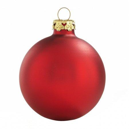 rote weihnachtskugeln aus glas 4er set 8cm seidenmatt. Black Bedroom Furniture Sets. Home Design Ideas