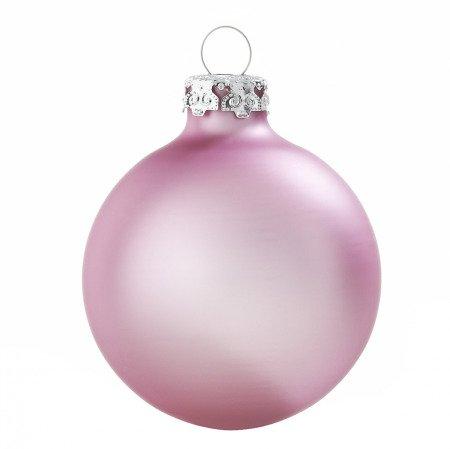 Zartrosa weihnachtskugeln aus glas 4er set 8cm matt for Pinke weihnachtskugeln