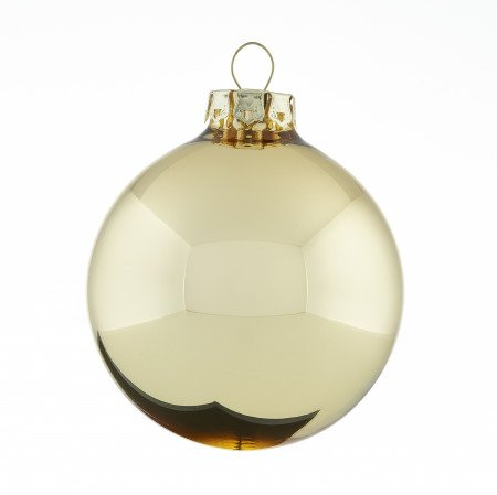 Goldene Weihnachtskugeln.Weihnachtskugeln Gold Glänzend 8cm