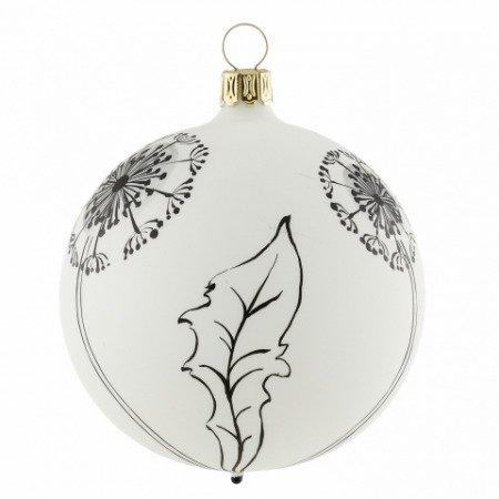 Schwarz Weiße Christbaumkugeln.Christbaumkugel Pusteblume Weiß Schwarz