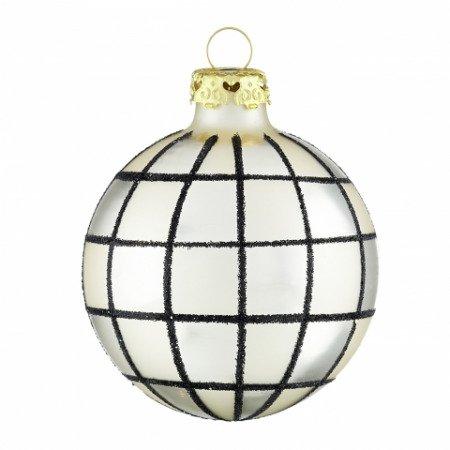 Christbaumkugeln Schwarz Gold.Christbaumkugeln Weihnachtsfenster Elfenbeingold Schwarz