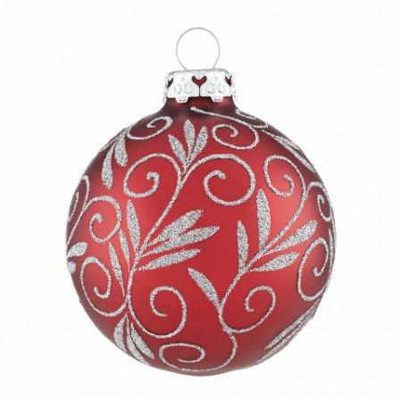 Christbaumkugeln Silber Matt.Christbaumkugeln Weihnachtsranken Weihnachtsrot Silber