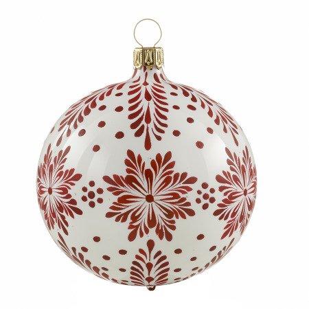 Christbaumkugeln Rot Glänzend.Christbaumkugel Sternenzweige Weiß Glänzend Rot
