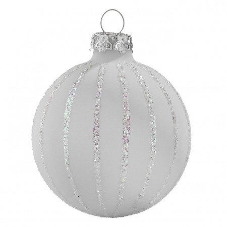 Weiße Christbaumkugeln Matt.Christbaumkugeln Strassregen Weiß Perlmutt
