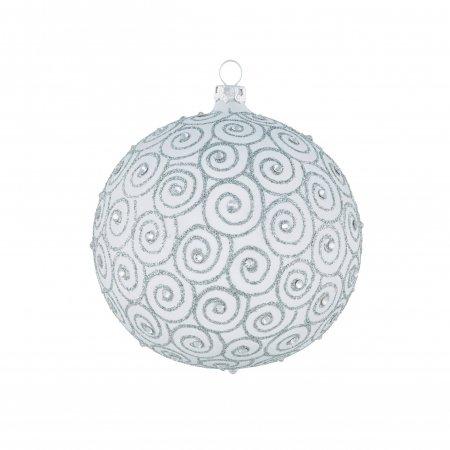 Christbaumkugeln Weiß 8cm.Diamantschnecke Weiß Silber 8cm Mit Swarovski 3er Set