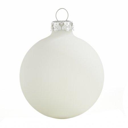 Weihnachtskugeln Weiß.Weihnachtskugeln Weiß Matt 6cm