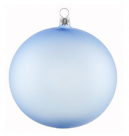 Christbaumkugeln 12 Cm Durchmesser.Weihnachtskugel Mundgeblasen Himmelblau Matt 12cm