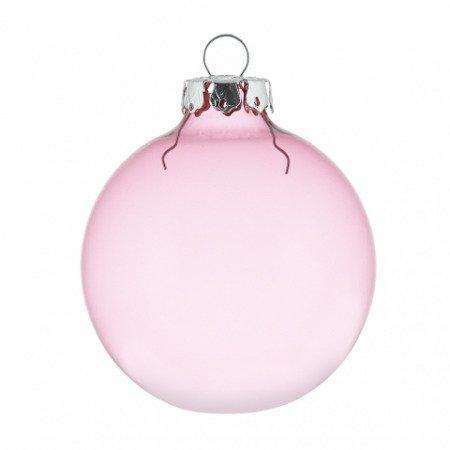 Transparente weihnachtskugeln in altrosa in 8cm for Pinke weihnachtskugeln