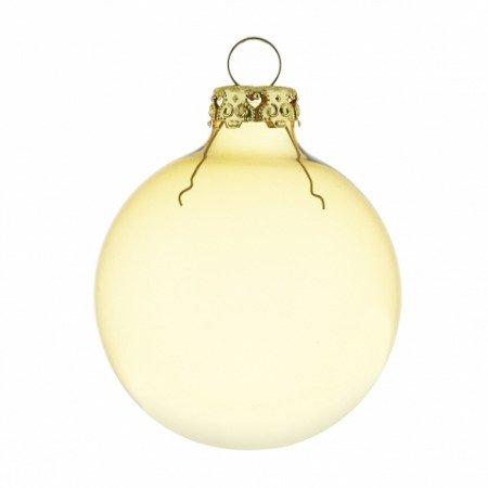 Transparente weihnachtskugeln in gold in 6cm for Weihnachtskugeln altrosa