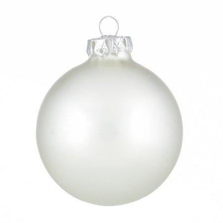 Silberne Weihnachtskugeln.Weihnachtskugeln Silber Matt 8cm