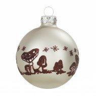 Christbaumkugeln mit umlaufenden dekoren - Weihnachtskugeln cappuccino ...